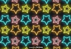 发光星星图案矢量