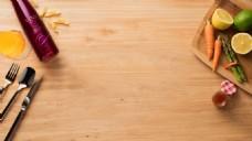 简约家居餐具水果背景