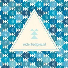 蓝色三角形背景矢量素材