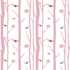 粉色树干蝙蝠南瓜灯背景图