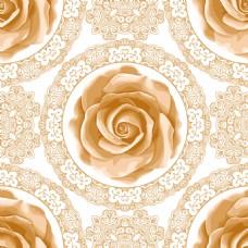 手绘复古拼接玫瑰花蕾丝矢量背景