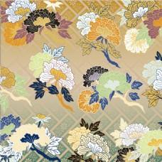 格子彩绘花朵背景图