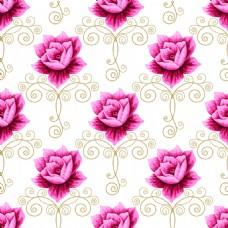 枚红色莲花蕾丝矢量背景