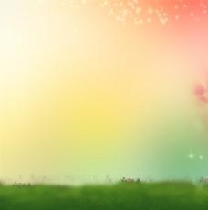 梦幻彩色天空背景