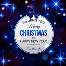蓝色星光圣诞素材