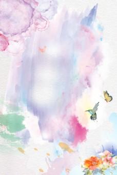 中国风水墨蝴蝶背景