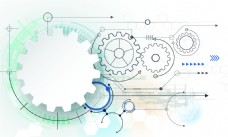 工业技术齿轮背景矢量图