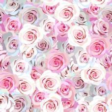 粉色玫瑰花背景图案矢量图