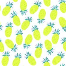 夏天菠萝水果无缝拼接图案矢量背景