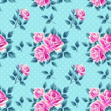 精致粉色玫瑰花蕾丝矢量背景