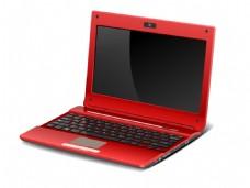 红色笔记本手提电脑矢量素材