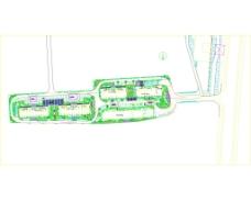 银座绿化平面施工图纸