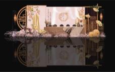 新中式婚礼甜品区效果图