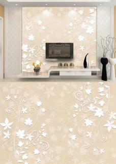 现代简约米色花纹暗纹淡雅背景墙