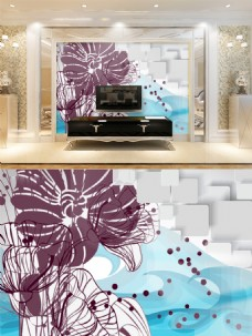 水墨国画中国风电视背景墙