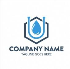 六角形水滴创意logo矢量素材