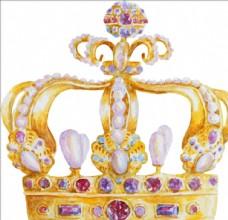 手绘王冠矢量图下载