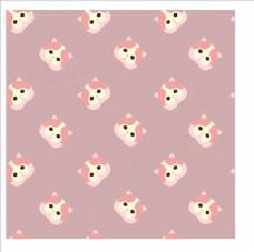 可爱卡通猫四方连续底纹