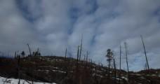 山峰雪景视频素材
