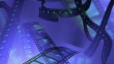 电影胶卷风格紫色背景