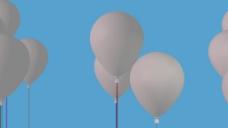 白色气球升空视频