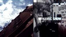 电子乐时尚画面分割图片视频展示动感开场