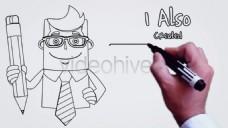 油性签字笔手写字动画