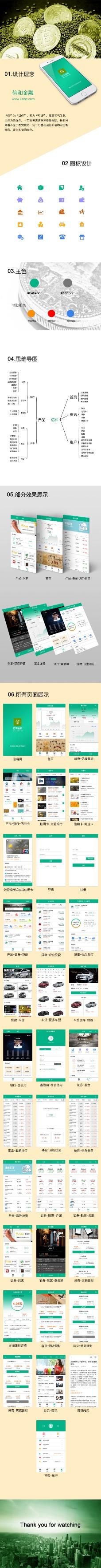 金融app设计套装界面设计