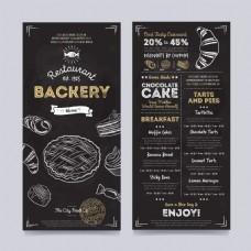 甜品类餐厅菜单矢量素材EPS