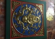 佛堂大殿寺庙彩绘贴金吊顶天花