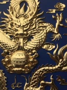寺庙龙腾吊顶天花主板细节图