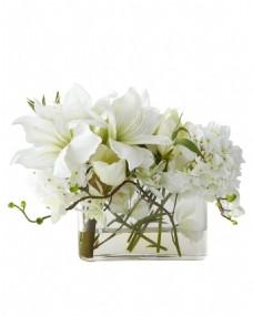 小清新花瓶透明元素