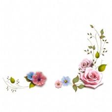 水彩复古花朵png免扣元素