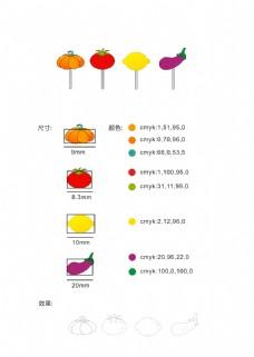 蔬菜水果可爱耳钉首饰手绘