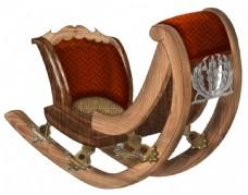 复古实木摇椅元素