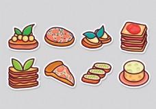 快餐美食图标素材