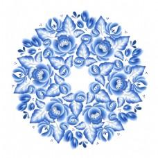 唯美青花瓷中国风典雅花型设计