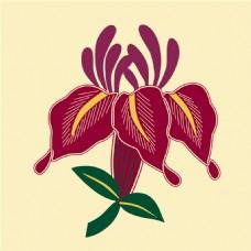 纹绣花朵背景图