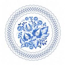 青花瓷花盘装饰