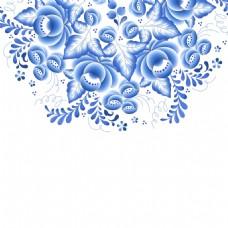 小花青花瓷中国风典雅花型设计
