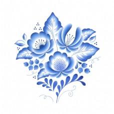 青花瓷中国风树叶