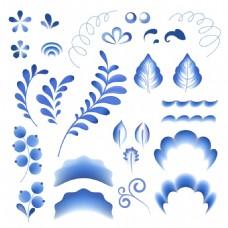 青花瓷花纹中国风典雅花型设计