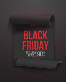 黑色星期五海报矢量素材