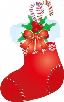手绘圣诞节袜子元素