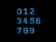 蓝色浮雕字体