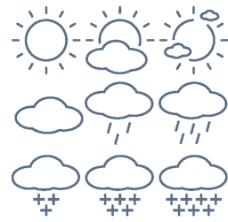 天气线条小图标