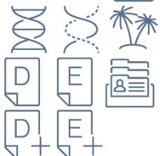 椰子树线条小图标