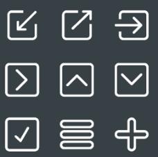符号白色常用小图标