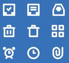 白色闹钟简单图标