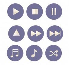 紫色圆形彩色小图标